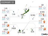 2020年06月11日の沖縄県の実況天気