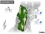 2020年06月11日の山形県の実況天気