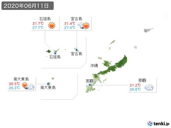 沖縄地方(2020年06月11日の天気