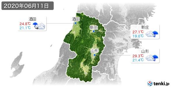 山形県(2020年06月11日の天気