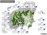 2020年06月12日の関東・甲信地方の実況天気