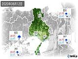 2020年06月12日の兵庫県の実況天気