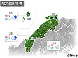 2020年06月12日の島根県の実況天気