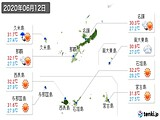 2020年06月12日の沖縄県の実況天気