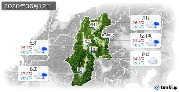長野県(2020年06月12日の天気