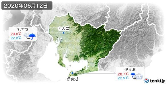 愛知県(2020年06月12日の天気