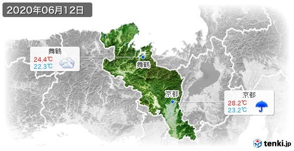 京都府(2020年06月12日の天気