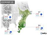 2020年06月13日の千葉県の実況天気