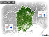 2020年06月13日の岡山県の実況天気