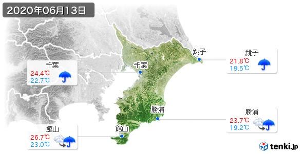 千葉県(2020年06月13日の天気