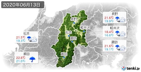 長野県(2020年06月13日の天気