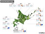 2020年06月14日の北海道地方の実況天気