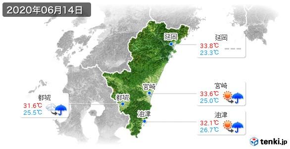 宮崎県(2020年06月14日の天気