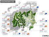2020年06月15日の関東・甲信地方の実況天気