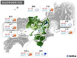 2020年06月15日の近畿地方の実況天気