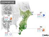 2020年06月15日の千葉県の実況天気