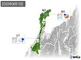 2020年06月15日の石川県の実況天気