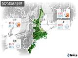 2020年06月15日の三重県の実況天気