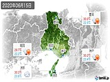 2020年06月15日の兵庫県の実況天気