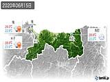 2020年06月15日の鳥取県の実況天気