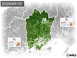 2020年06月15日の岡山県の実況天気