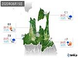2020年06月15日の青森県の実況天気