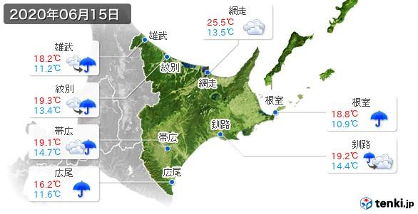 道東(2020年06月15日の天気