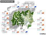 2020年06月16日の関東・甲信地方の実況天気