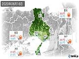 2020年06月16日の兵庫県の実況天気