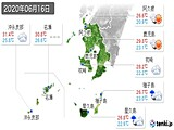 2020年06月16日の鹿児島県の実況天気