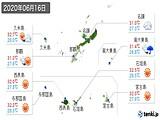 2020年06月16日の沖縄県の実況天気