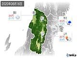 2020年06月16日の山形県の実況天気