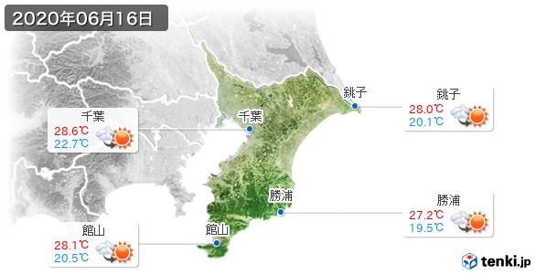 千葉県(2020年06月16日の天気