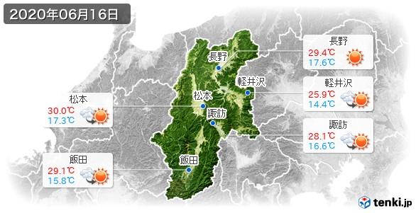 長野県(2020年06月16日の天気