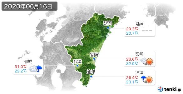 宮崎県(2020年06月16日の天気