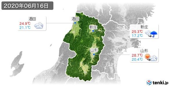 山形県(2020年06月16日の天気