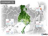 2020年06月17日の兵庫県の実況天気