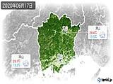 2020年06月17日の岡山県の実況天気