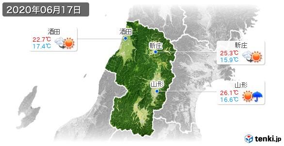 山形県(2020年06月17日の天気
