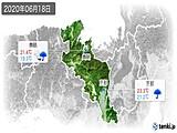 2020年06月18日の京都府の実況天気