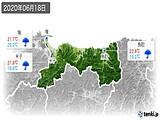 2020年06月18日の鳥取県の実況天気
