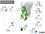 2020年06月18日の鹿児島県の実況天気