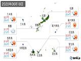 2020年06月18日の沖縄県の実況天気
