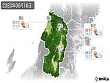 2020年06月18日の山形県の実況天気