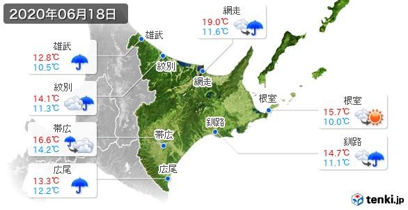 道東(2020年06月18日の天気