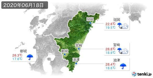 宮崎県(2020年06月18日の天気