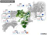 2020年06月19日の近畿地方の実況天気