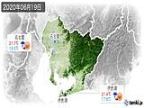 2020年06月19日の愛知県の実況天気