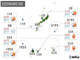 2020年06月19日の沖縄県の実況天気