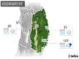 2020年06月19日の岩手県の実況天気